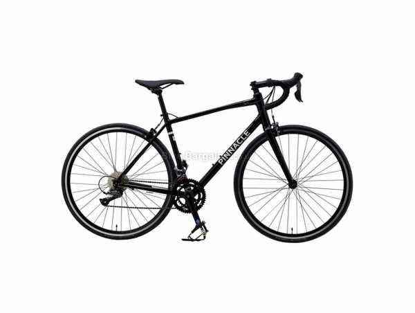 Pinnacle Laterite 2 Alloy Road Bike 2021 L, Black, Alloy Frame, Claris 16 Speed, 700c Wheels, Caliper Brakes, Double Chainring