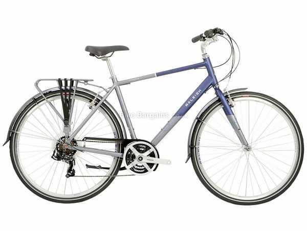 "Raleigh Pioneer Tour Alloy City Bike 2021 17"", Blue, Grey, Alloy Frame, Tourney 21 Speed, Caliper Brakes, 700c Wheels, Triple Chainring, 15kg"