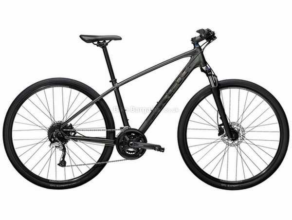Trek Dual Sport 3 Alloy City Bike 2021 S, Black, Alloy Frame, Alivio & Acera 18 Speed, Disc Brakes, 700c Wheels, Double Chainring