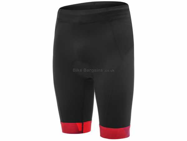 dhb Blok Vesuvio Triathlon Shorts XXL, Black, Red, Men's, Tight, Breathable, Polyamide, Elastane