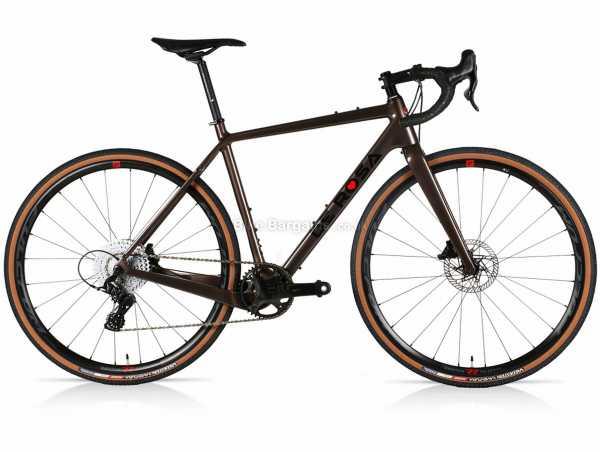 De Rosa Gravel Ekar Carbon Gravel Bike 52cm,54cm, Brown, Ekar 13 Speed, Carbon Frame, 700c, Disc Brakes, Single Chainring