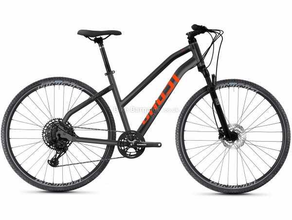 "Ghost Square Cross Essential AL W Ladies Alloy Urban City Bike 2021 L, Black, Red, Alloy Frame, SX Eagle 12 Speed, 13.5kg, 29"" Wheels, Disc Brakes, Single Chainring"