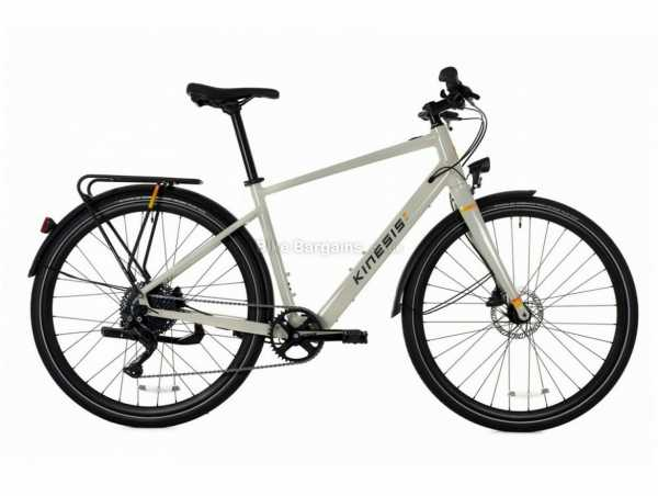 Kinesis Lyfe Equipped Alloy City Electric Bike S,M,L, Grey, 17kg, Deore 10 Speed, Alloy Frame, 700c, Disc Brakes, Single Chainring