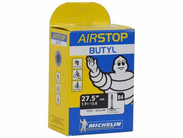 "Michelin B4 Airstop 27.5"" MTB Inner Tube 27.5"", Black, Presta, 215g, Butyl"