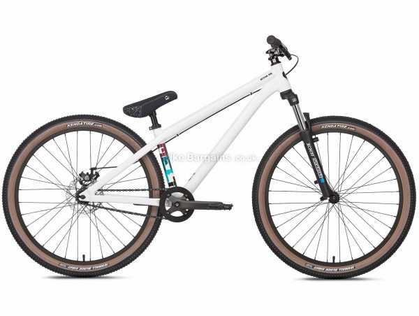 """Octane One Melt Alloy Pump Track Bike 2021 M, White, Alloy Frame, Singlespeed, 12.5kg, 26"""" Wheels, Disc Brakes, Single Chainring"""