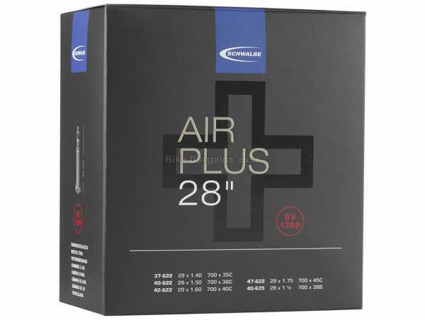 Schwalbe Air Plus SV17AP 700c Inner Tube 700c, Black, Presta, Butyl