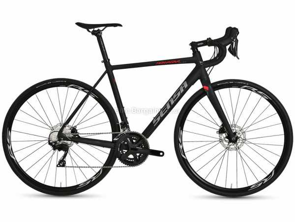 Sensa Romagna Disc SLE 105 Alloy Road Bike 2021 51cm,54cm, Black, 105 22 Speed, Alloy Frame, 700c, Disc Brakes, Double Chainring