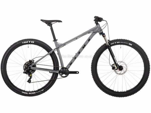 """Vitus Nucleus 29 VR Alloy Hardtail Mountain Bike 2021 XL, Grey, Black, Alloy Frame, Box Four 8 Speed, 14.3kg, 29"""" Wheels, Disc Brakes, Single Chainring"""