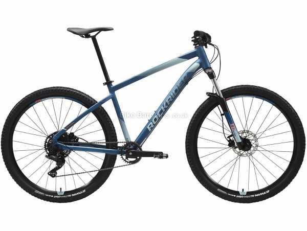 "B'Twin Rockrider Ladies ST 530 RR 27.5"" Alloy Hardtail Mountain Bike S, Blue, Grey, Alloy Hardtail Frame, 27.5"" Wheels, 9 Speed Microshift Drivetrain, Disc Brakes"