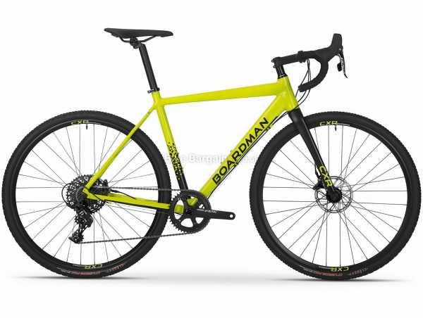 Boardman CXR 8.9 Alloy Cyclocross Bike 2021 S, Yellow, Black, Alloy Frame, 700c Wheels, Apex 11 Speed Drivetrain, Disc Brakes, Single Chainring