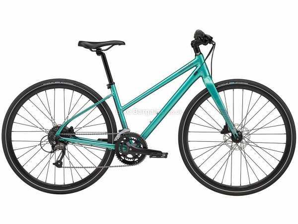 Cannondale Quick Disc 3 Remixte Ladies Alloy City Bike 2021 L, Turquoise, Alloy Frame, 700c Wheels, Altus & Acera 18 Speed Drivetrain, Disc Brakes, Double Chainring