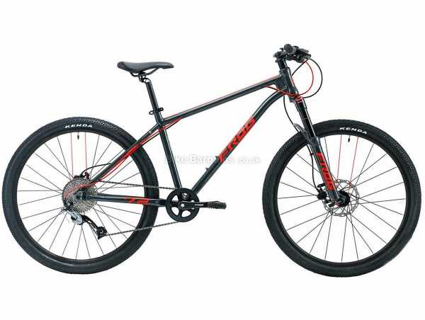 "Frog 72 26"" Alloy Kids Hardtail Mountain Bike 2021 16"", Grey, Red, Alloy Frame, 26"" Wheels, Acera 9 Speed Drivetrain, Disc Brakes, Single Chainring, 11.5kg"