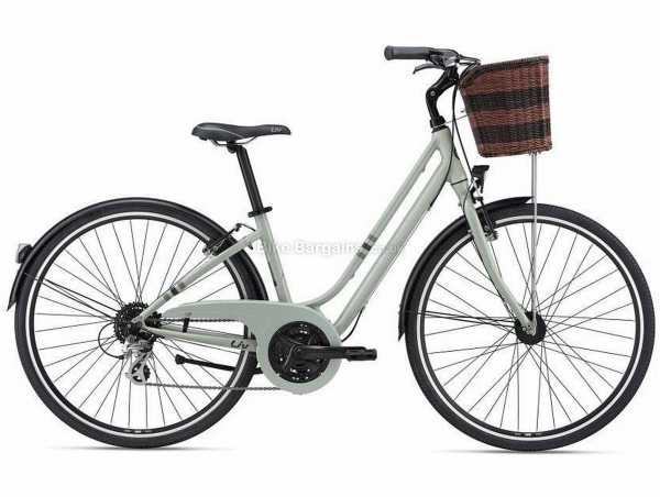 Giant Liv Flourish 2 Ladies Alloy City Bike 2021 M, Grey, Alloy Frame, 700c Wheels, Altus & Tourney 24 Speed Drivetrain, Caliper Brakes, Triple Chainring