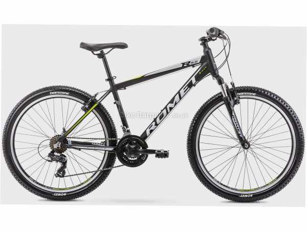 "Romet Rambler 6.0 Alloy Hardtail Mountain Bike 17"",19"", Black, 26"" Wheels, Alloy Frame, Caliper Brakes, Tourney 21 Speed Drivetrain, Triple Chainring, 13.6kg"