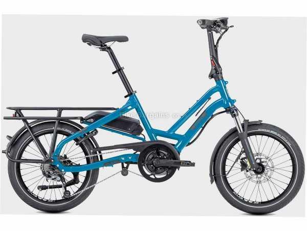 "Tern HSD P9 Alloy Cargo Electric Bike M, Blue, 20"" Wheels, Alloy Frame, Disc Brakes, Alivio 9 Speed Drivetrain, Single Chainring"