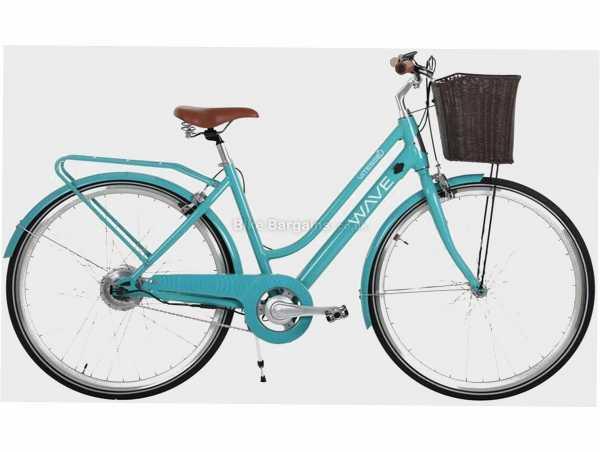 Vitesse Wave Ladies Traditional Alloy Electric Bike M, Turquoise, 700c Wheels, Alloy Frame, Caliper Brakes, Single Speed Drivetrain, Single Chainring