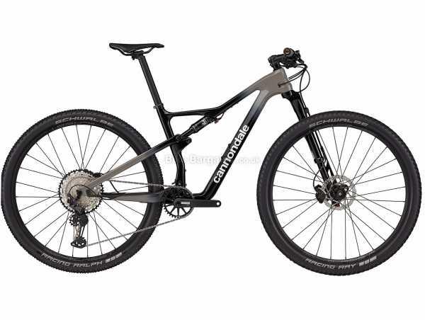"Cannondale Scalpel Carbon 3 Lefty 29er Full Suspension Mountain Bike 2021 L, Black, Carbon Frame, 29"" Wheels, SLX, XT 12 Speed, Disc Brakes, Full Suspension, Single Chainring"