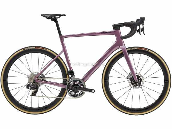 Cannondale Supersix Evo Hi-mod Disc Red Etap AXS Carbon Road Bike 2021 60cm, Purple, Carbon Frame, 700c Wheels, Red 24 Speed, Disc Brakes, Rigid, Double Chainring