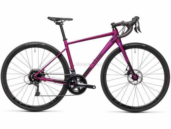 Cube Axial WS Pro Ladies Alloy Road Bike 2021 53cm, Purple, Black, Alloy Frame, 700c Wheels, Sora 18 Speed, Disc Brakes, Double Chainring, 10.3kg
