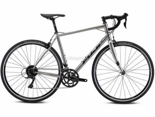 Fuji Sportif 2.1 Alloy Road Bike 2022 49cm, Silver, Alloy Frame, 700c Wheels, Sora 18 Speed, Caliper Brakes, Double Chainring, 9.83kg