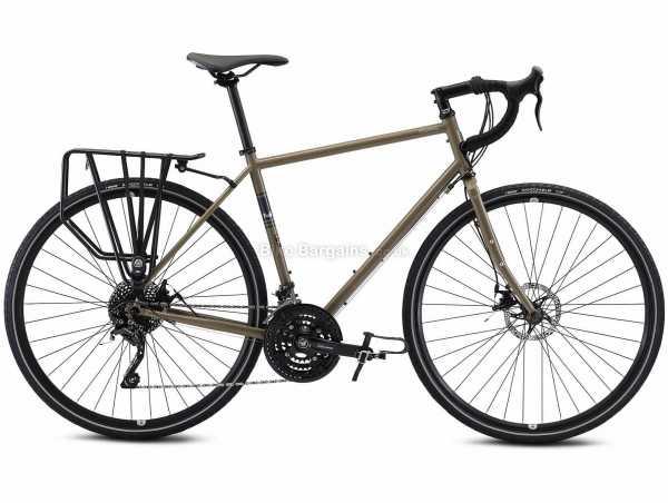 Fuji Touring Disc Steel Road Bike 2022 56cm,58cm,61cm, Brown, Black, Steel Frame, 700c Wheels, Deore 30 Speed, Disc Brakes, Triple Chainring