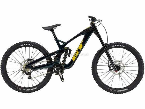 "GT Fury Expert Carbon Full Suspension Mountain Bike 2021 M, Black, Yellow, Carbon Frame, 27.5"" Wheels, Zee 10 Speed, Disc Brakes, Single Chainring"