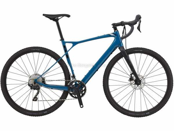 GT Grade Carbon Elite Gravel Bike 2021 48cm, Blue, Carbon Frame, 700c Wheels, Tiagra, GRX 20 Speed, Disc Brakes, Double Chainring