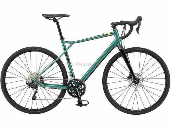 GT Grade Expert Alloy Gravel Bike 2021 55cm, Green, Black, Alloy Frame, 700c Wheels, Tiagra & GRX 20 Speed Groupset, Disc Brakes, Double Chainring