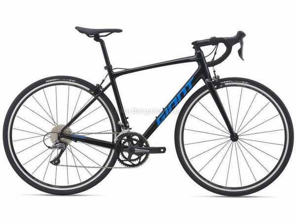Giant Contend 2 Alloy Road Bike 2021 XS, Black, Alloy Frame, 700c Wheels, Claris 16 Speed, Caliper Brakes, Rigid, Double Chainring