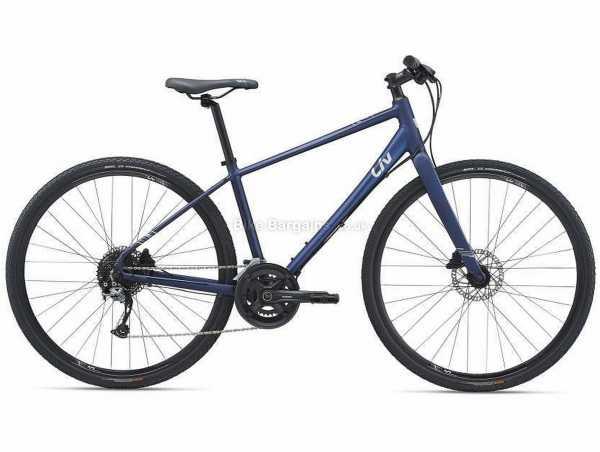 Giant Liv Alight 1 Disc Ladies Sports Alloy City Bike 2021 M,L, Blue, Alloy Frame, 700c Wheels, Altus, Acera 18 Speed, Disc Brakes, Rigid, Double Chainring