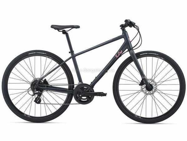 Giant Liv Alight 2 Disc Ladies Sports Alloy City Bike 2021 M, Black, Alloy Frame, 700c Wheels, Altus 16 Speed, Disc Brakes, Rigid, Double Chainring