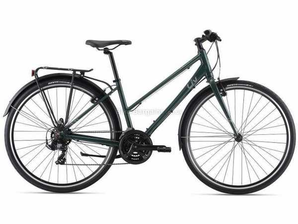 Giant Liv Alight 3 City Ladies Sports Alloy City Bike 2021 L, Green, Alloy Frame, 700c Wheels, Tourney 21 Speed, Caliper Brakes, Rigid, Triple Chainring