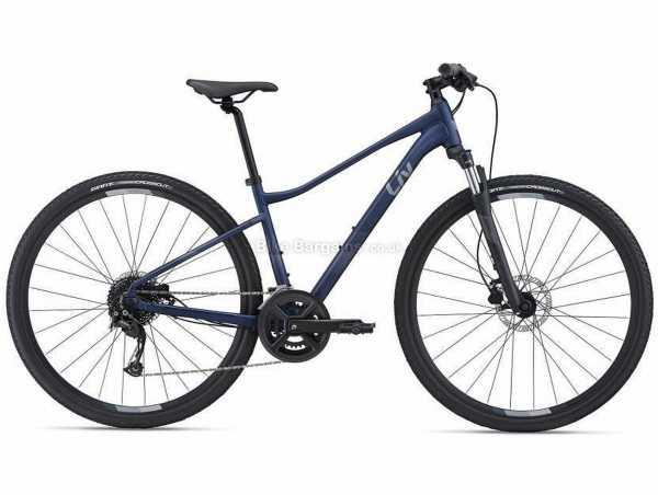 Giant Liv Rove 2 Dd Ladies Sports Alloy City Bike 2021 L, Blue, Black, Alloy Frame, 700c Wheels, Acera, Alivio, Altus 18 Speed, Disc Brakes, Hardtail, Suspension, Double Chainring