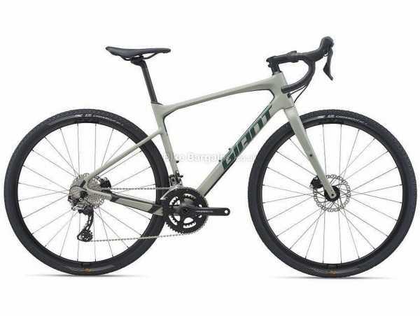 Giant Revolt Advanced 2 Carbon Gravel Bike 2021 L, Grey, Carbon Frame, 700c Wheels, GRX 22 Speed, Disc Brakes, Rigid, Double Chainring