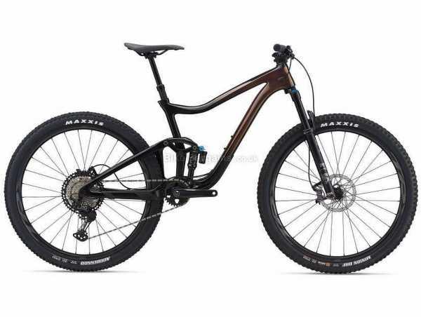 "Giant Trance Advanced Pro 29 1 Alloy Full Suspension Mountain Bike 2021 S, Brown, Black, Alloy Frame, 29"" Wheels, XT 12 Speed, Disc Brakes, Full Suspension, Single Chainring"