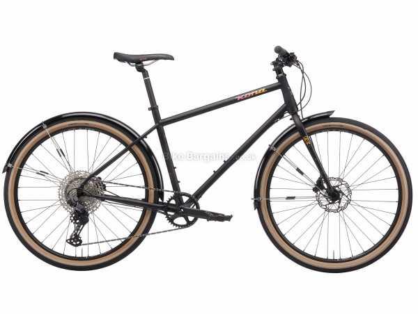Kona Dr Dew Sports Steel City Bike 2021 M, Black, Steel Frame, 650c Wheels, Deore 12 Speed Groupset, Disc Brakes, Single Chainring