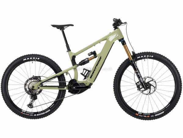 "Nukeproof Megawatt 297 Factory XT Alloy Full Suspension Electric Mountain Bike 2021 S,M,XXL, Green, Black, Alloy Frame, 27.5"", 29"" Wheels, XT 12 Speed, Disc Brakes, Single Chainring, 23.9kg"