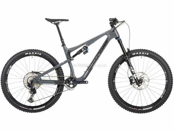 "Nukeproof Reactor 275 Elite SLX Carbon Full Suspension Mountain Bike 2021 M, Grey, Black, Carbon Frame, 27.5"" Wheels, SLX 12 Speed, Disc Brakes, Single Chainring, 14.3kg"
