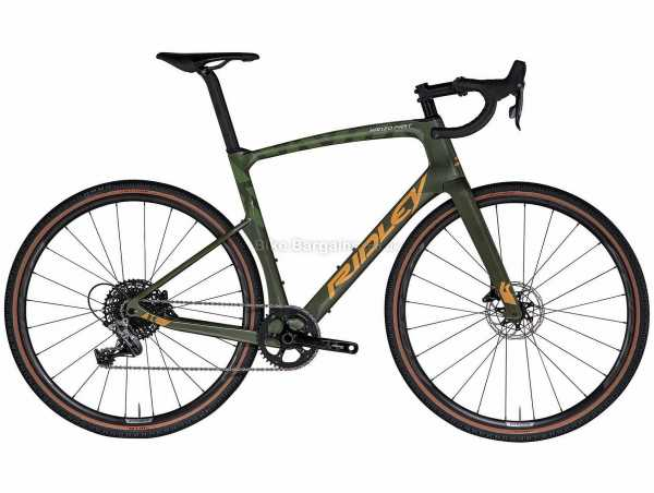 Ridley Kanzo Fast Rival1 HD Carbon Gravel Bike 2021 L - S,M are extra, Green, Grey, Carbon Frame, 700c Wheels, Rival 11 Speed, Disc Brakes, Single Chainring