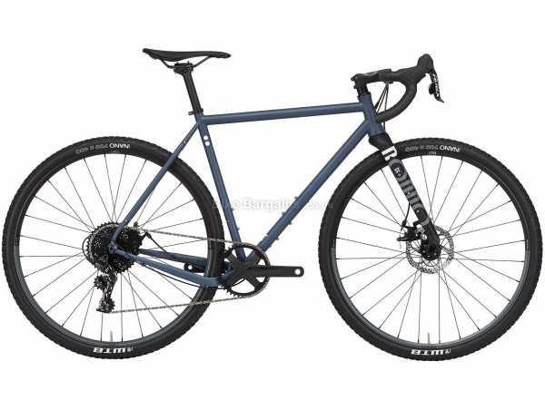 Rondo Ruut ST 2 Steel Gravel Bike 2021 XL, Blue, Black, Steel Frame, 700c Wheels, Apex 11 Speed, Disc Brakes, Single Chainring