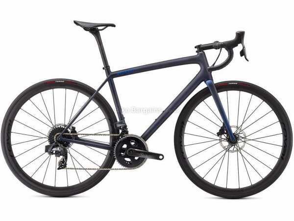 Specialized Aethos Pro Disc Carbon Road Bike 2021 54cm, Blue, Carbon Frame, 700c Wheels, Ultegra 22 Speed Groupset, Disc Brakes, Double Chainring