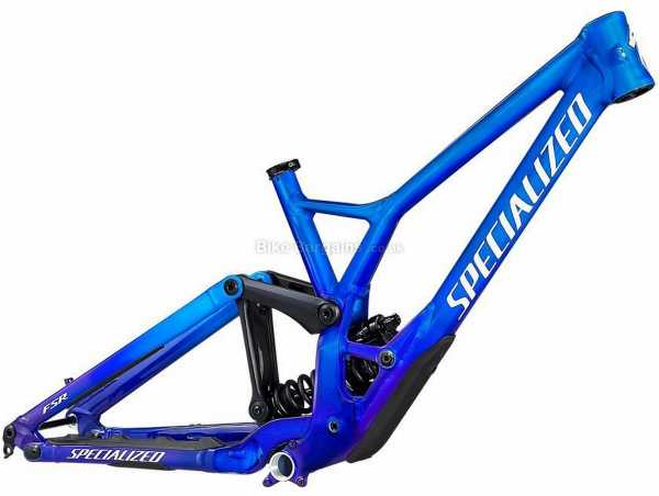 """Specialized Demo Race DH Alloy Full Suspension Mountain Bike Frame 2021 S, Blue, White, Alloy Full Suspension Frame, 27.5"""" and 29"""" Wheels, Disc Brakes, Single Chainring"""