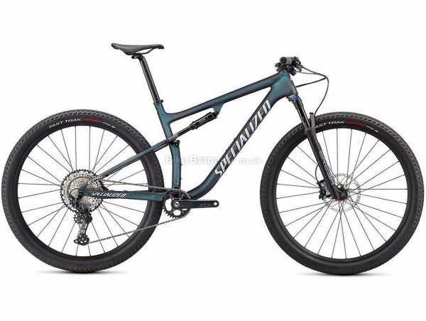 """Specialized Epic Comp Carbon Full Suspension Mountain Bike 2021 L,XL, Green, Grey, Carbon Full Suspension Frame, 29"""" Wheels, SLX 12 Speed Groupset, Disc Brakes, Single Chainring"""