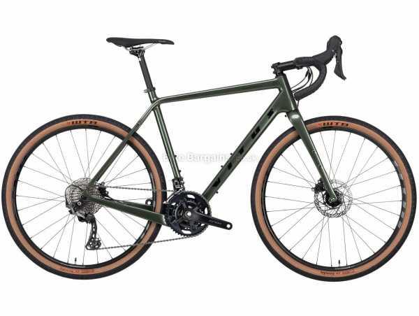 Vitus Substance CRS-2 GRX 600 Carbon Adventure Gravel Bike 2021 XL, Green, Carbon Frame, 650c Wheels, GRX 22 Speed, Disc Brakes, Double Chainring, 9.65kg