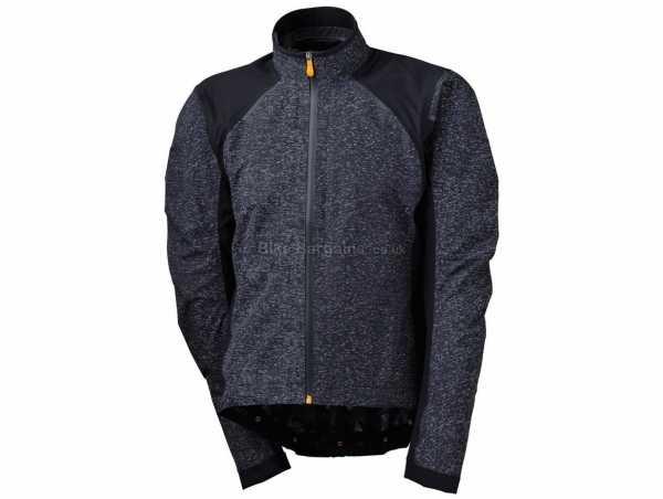 Agu Essential Hi-Vis Rain Jacket S,M, Black, Long Sleeve, Breathable, windproof, waterproof, Zip Fastening, Polyester & Elastane Construction