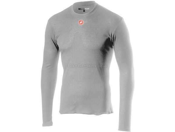Castelli Prosecco R Long Sleeve Base Layer XS, Grey, Long Sleeve, Polyester Construction, 148g
