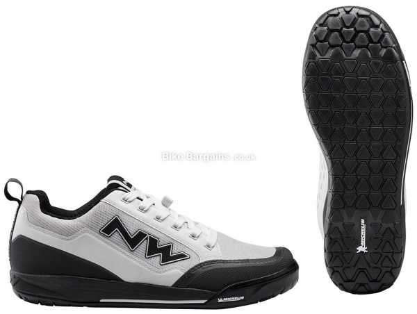 Northwave Clan MTB Shoes 2021 39,40,41,42,43,44,45,46,47, White, Black, Grey, Red, Laces Fastening, Nylon & Rubber Construction