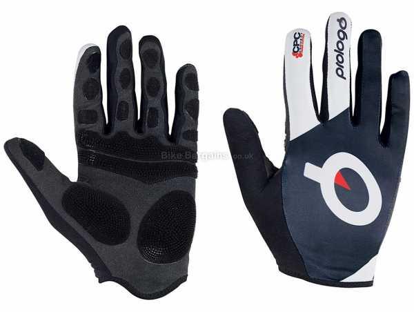 Prologo CPC Full Finger Gloves S, Black, White, Full Finger, Synthetic Leather, Lycra & Polyester Construction