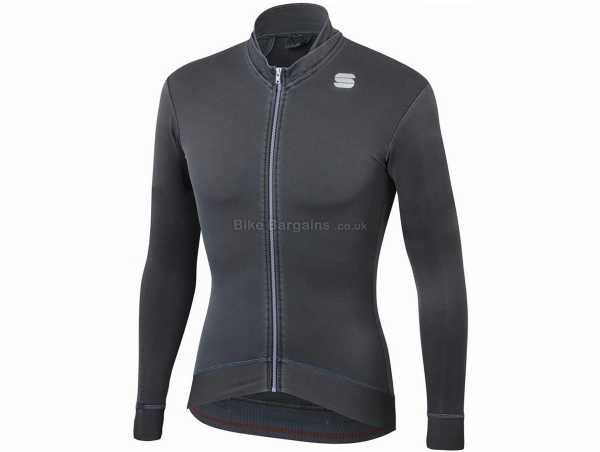 Sportful Monocrom Thermal Long Sleeve Jersey M,L, Black, Red, Long Sleeve, 3 Rear Pockets, Zip